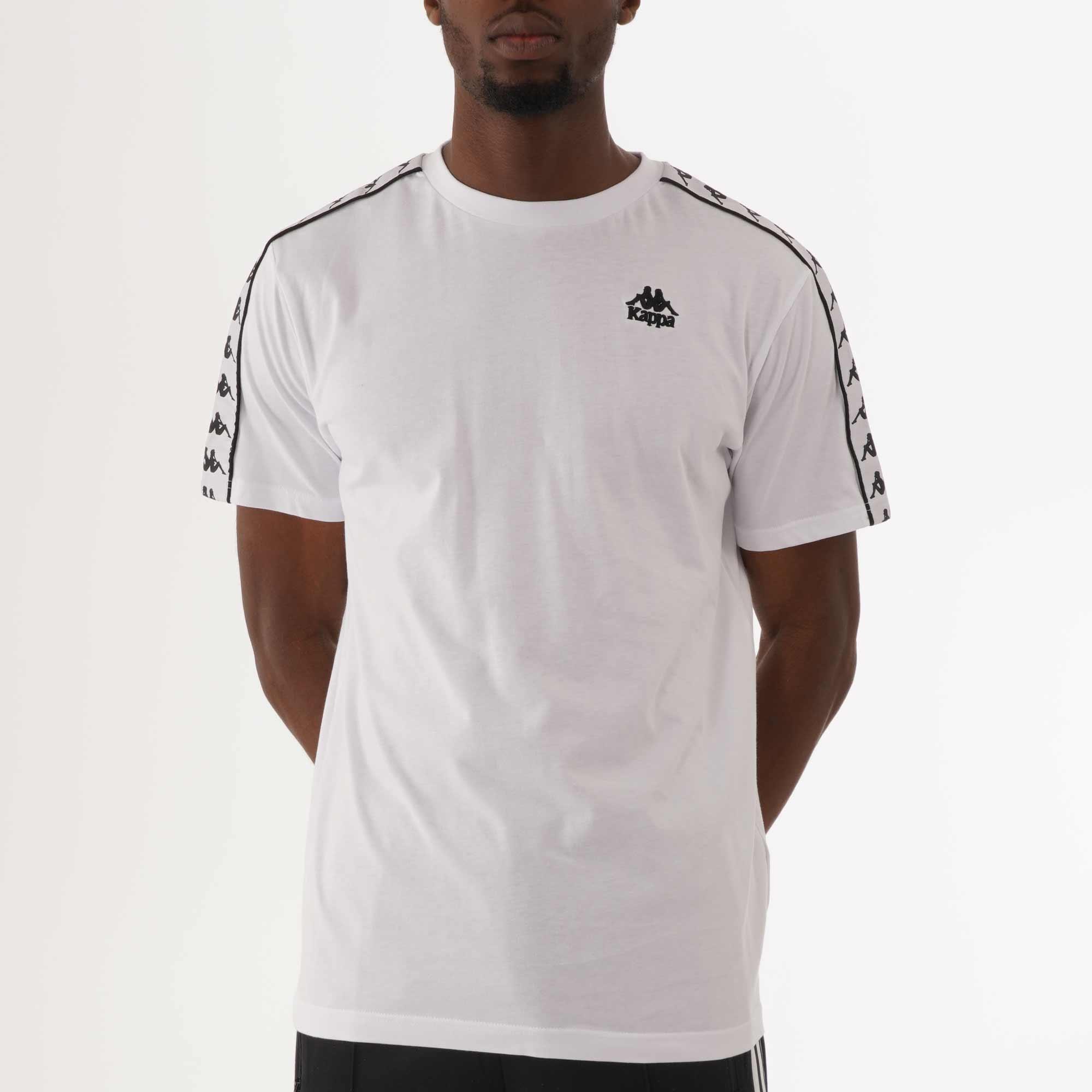Kappa Coen Slim 222 Banda Crew Neck T-Shirt in Black /& Grey /& White /& Black