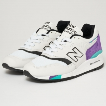 997 Made In US - Light Grey Marl & Purple
