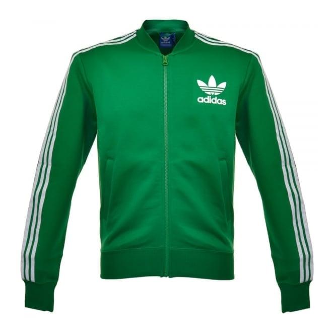 adidas green track jacket