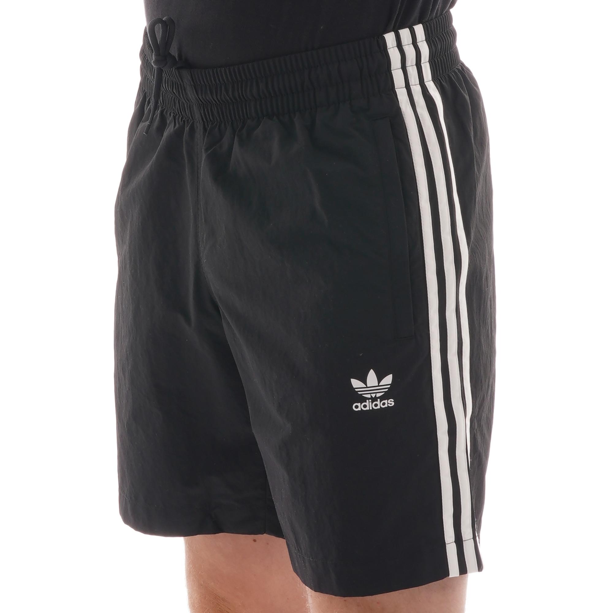 adidas Originals Adidas 3 stripe swim shorts Black