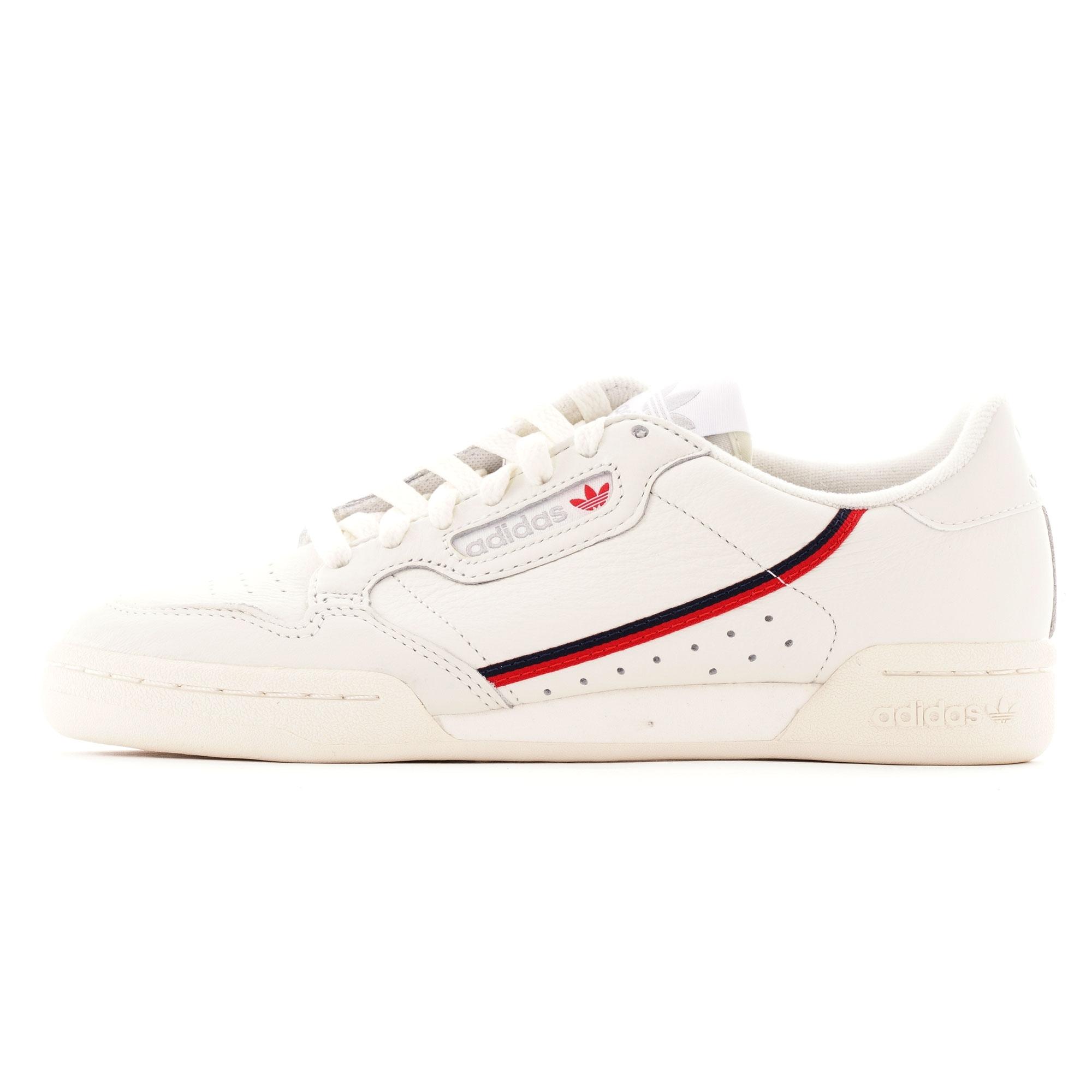 Adidas Originals Continental 80 - Off White & Scarlet