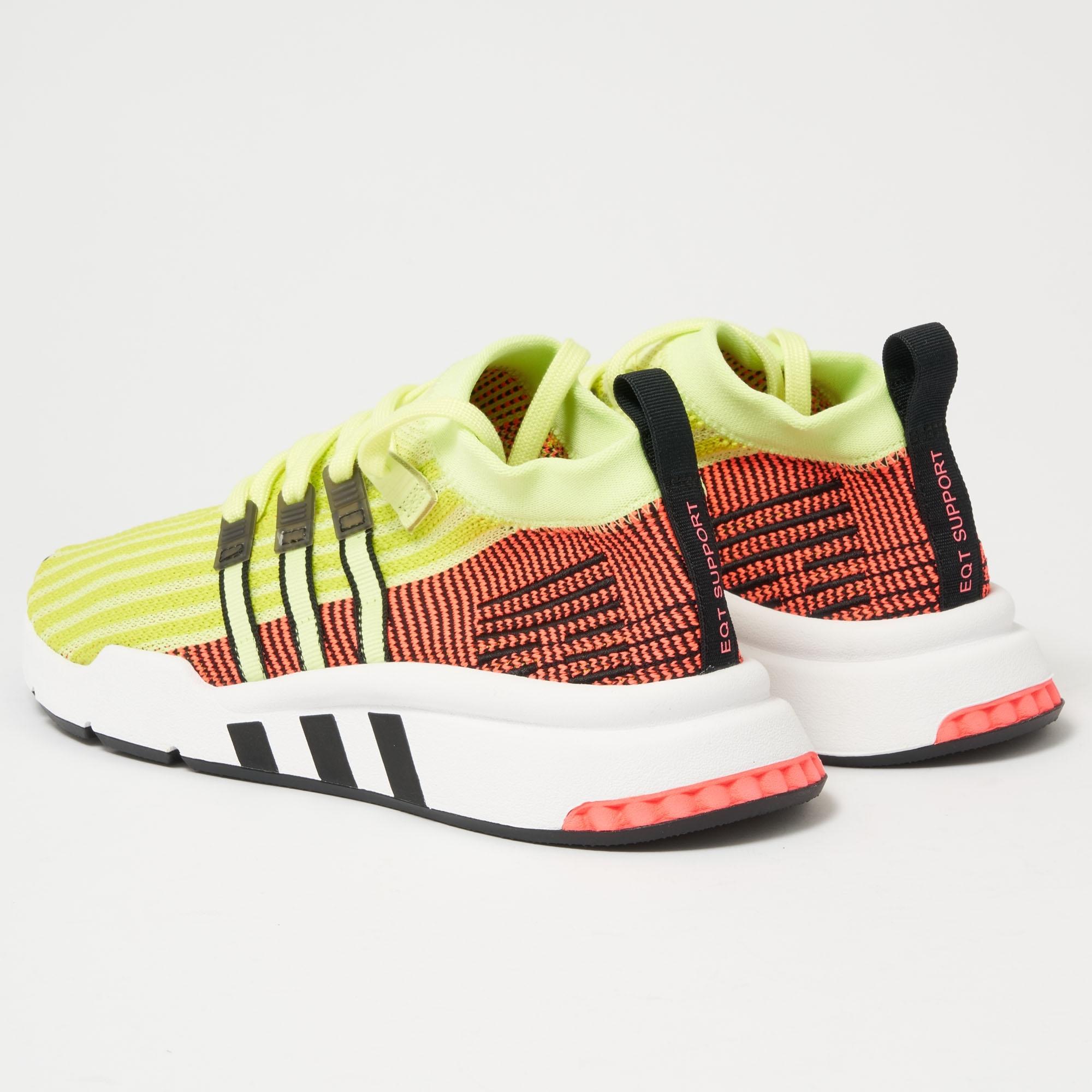 Adidas Originals Eqt Support Mid Adv Primeknit Glow Us Stockists