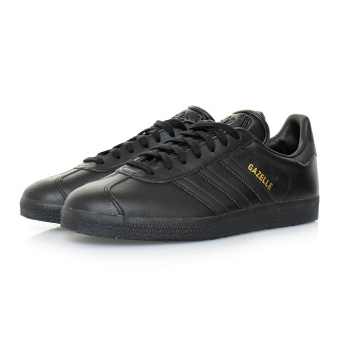 adidas leather shoes black