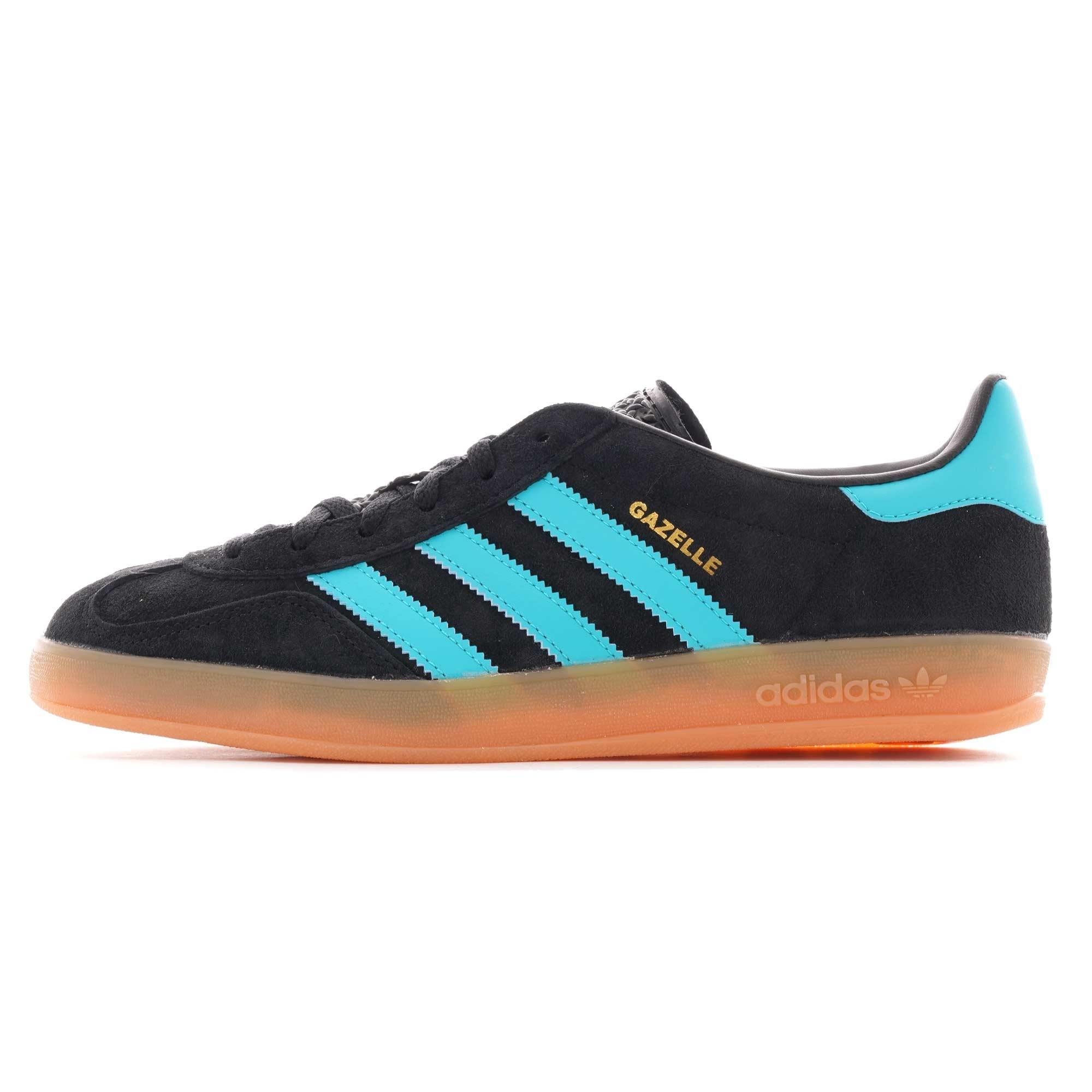 Adidas Gazelle Indoor Men/'s Black Turquoise Trainers