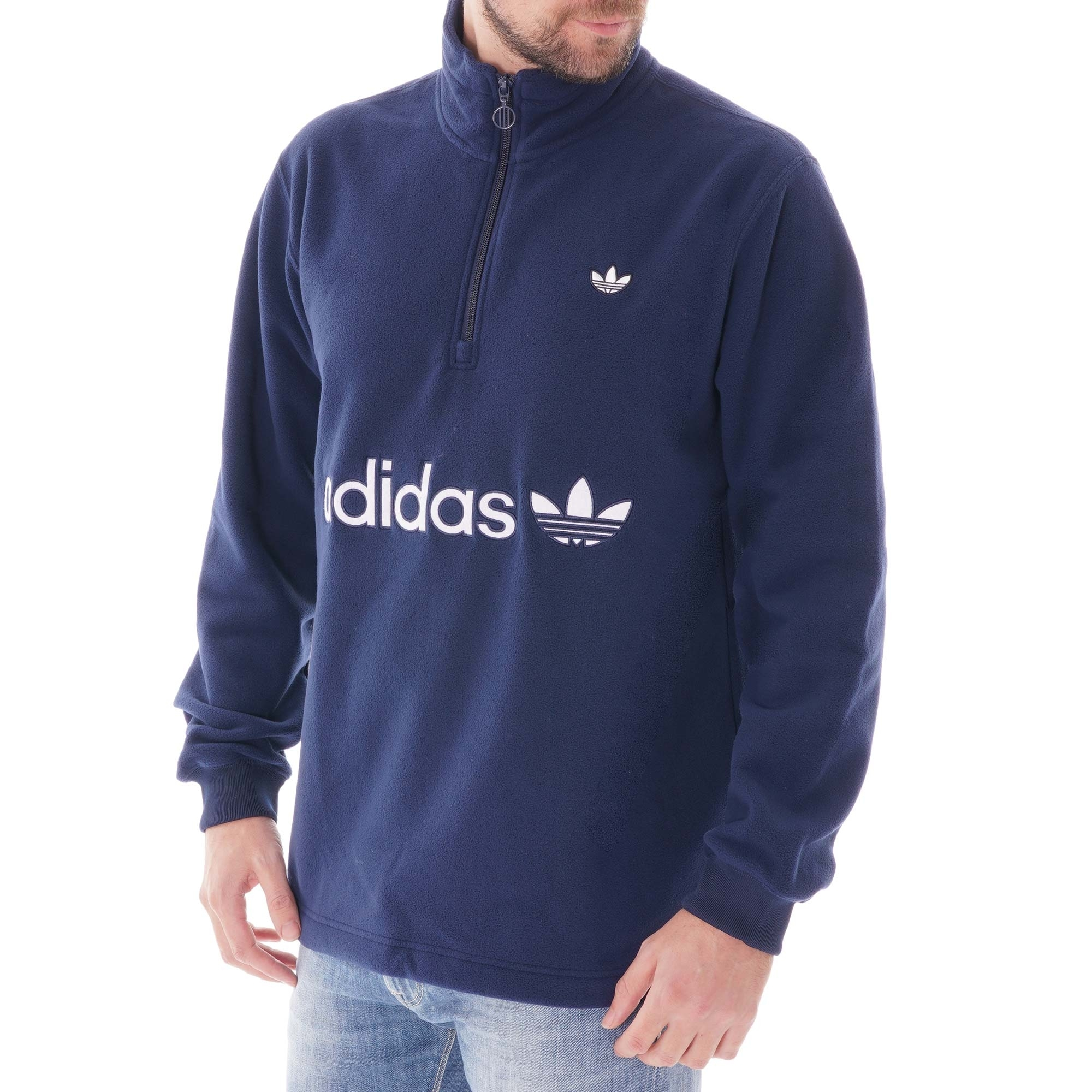 adidas Originals Half zip Polar Fleece Indigo