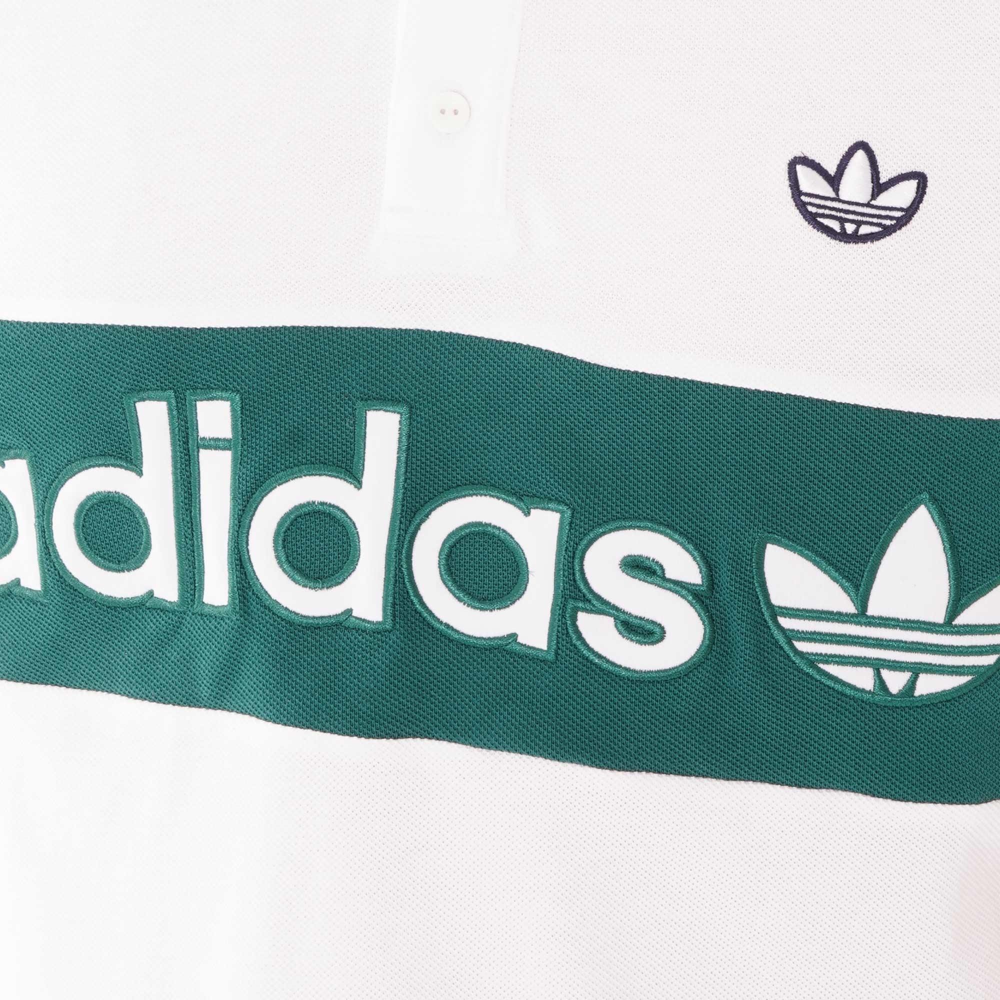 adidas Originals Samstag Colorblock Poloshirt White and Green