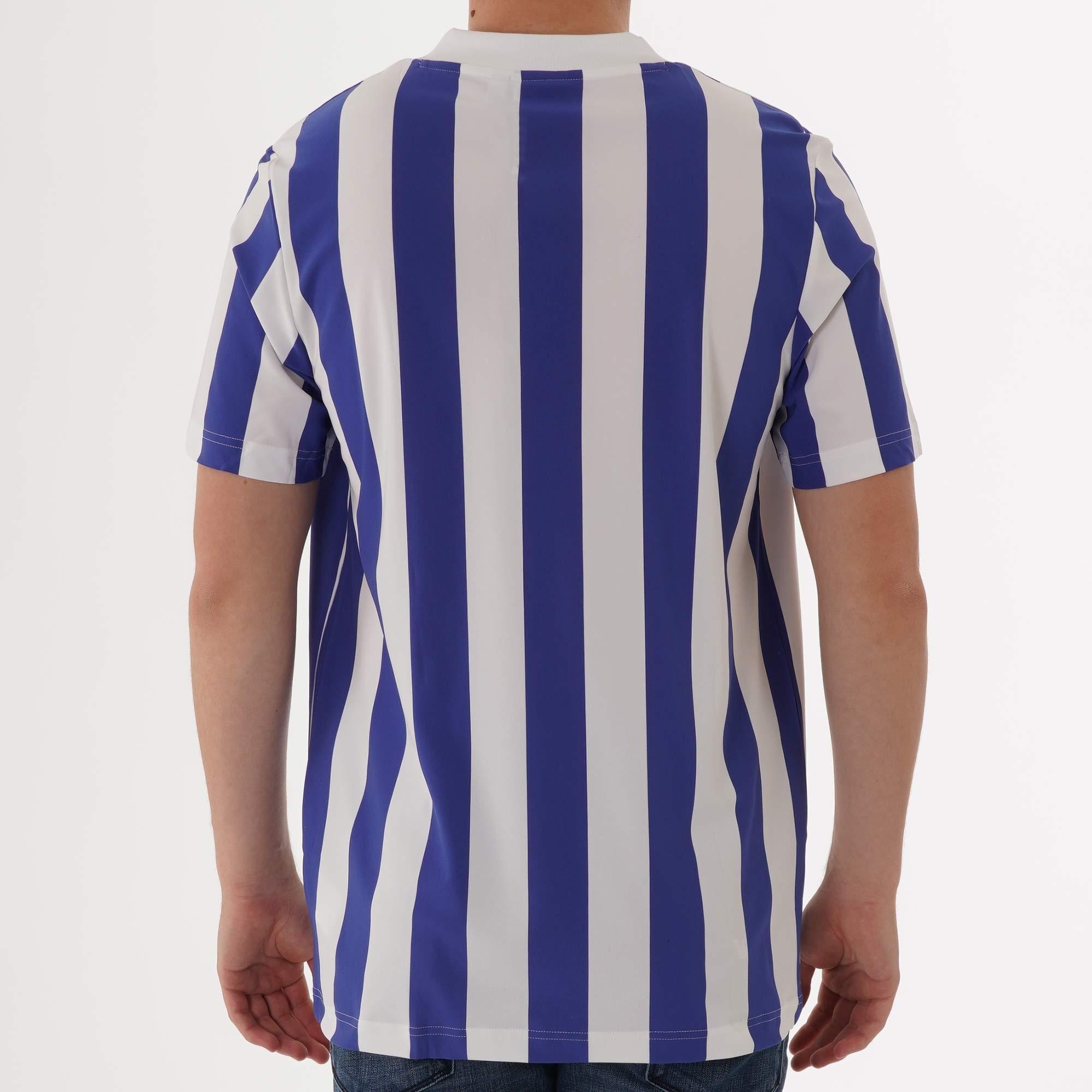 Adidas Originals Stripes Jersey T-Shirt - Active Blue & White