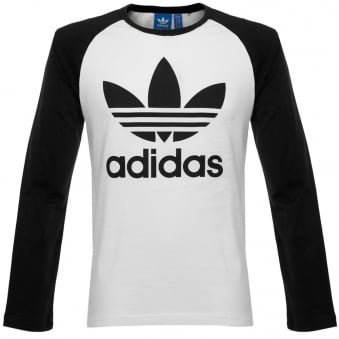 Adidas Originals Trefoil LS White T-Shirt AY7804