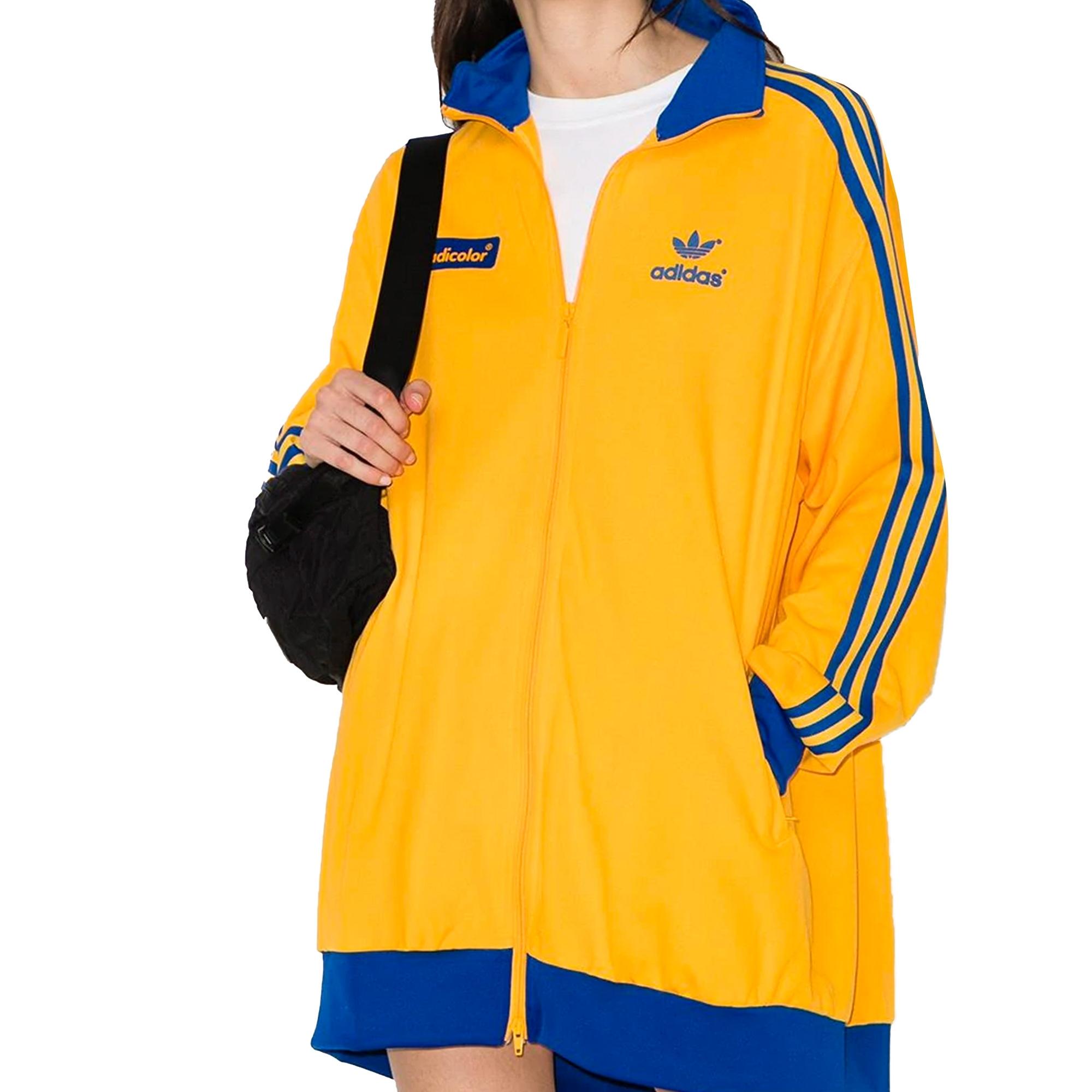 Adidas Originals Womens Adicolour 70s track top- yellow