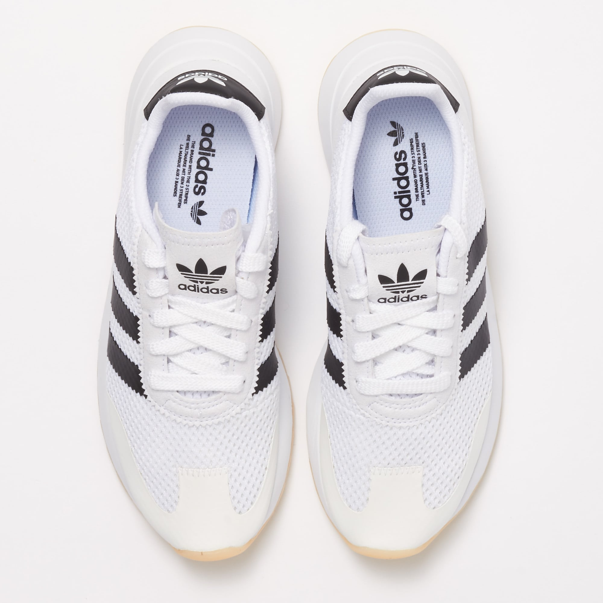 womens adidas black and white trainers