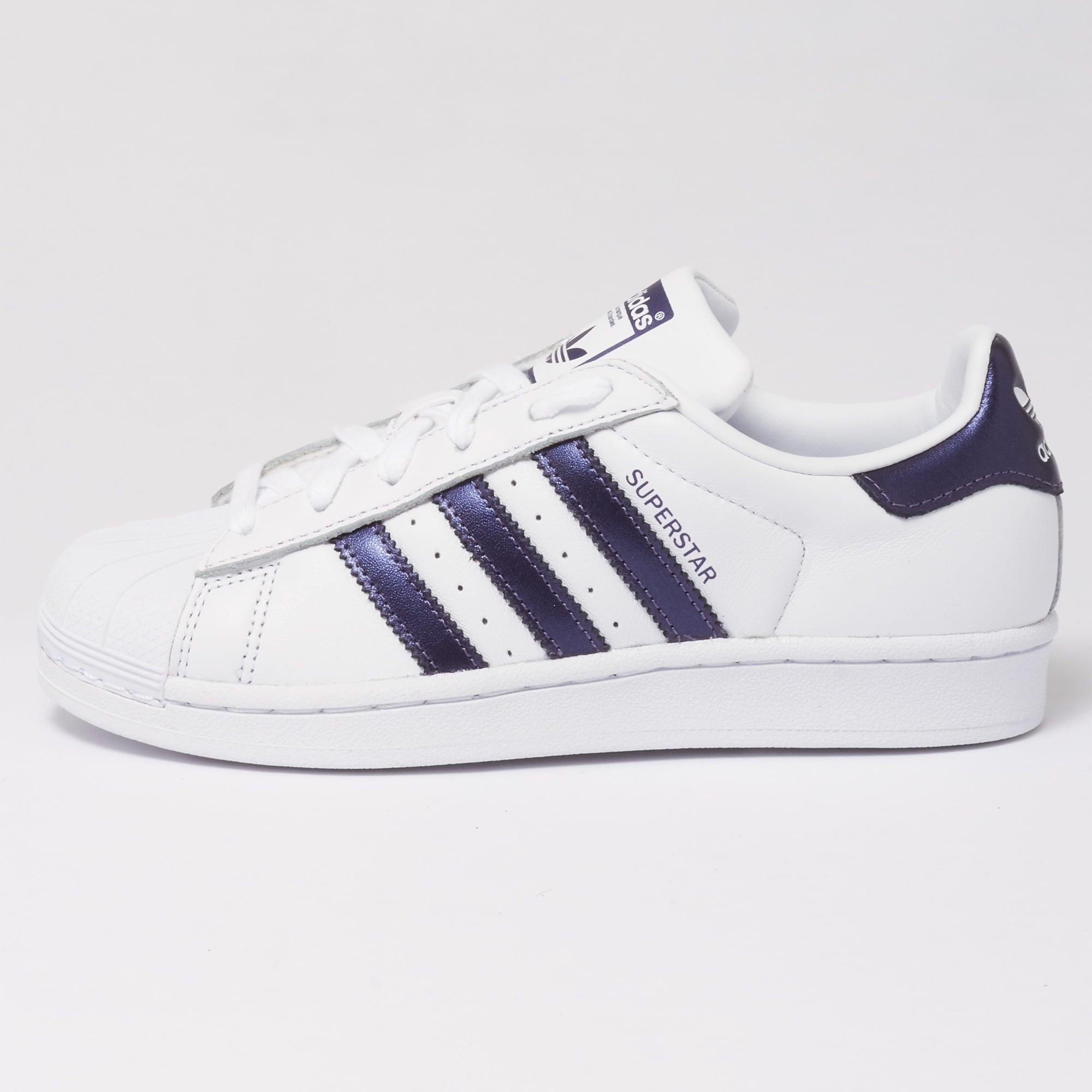 adidas superstar scarpe originali delle donne bianco e viola cg5464