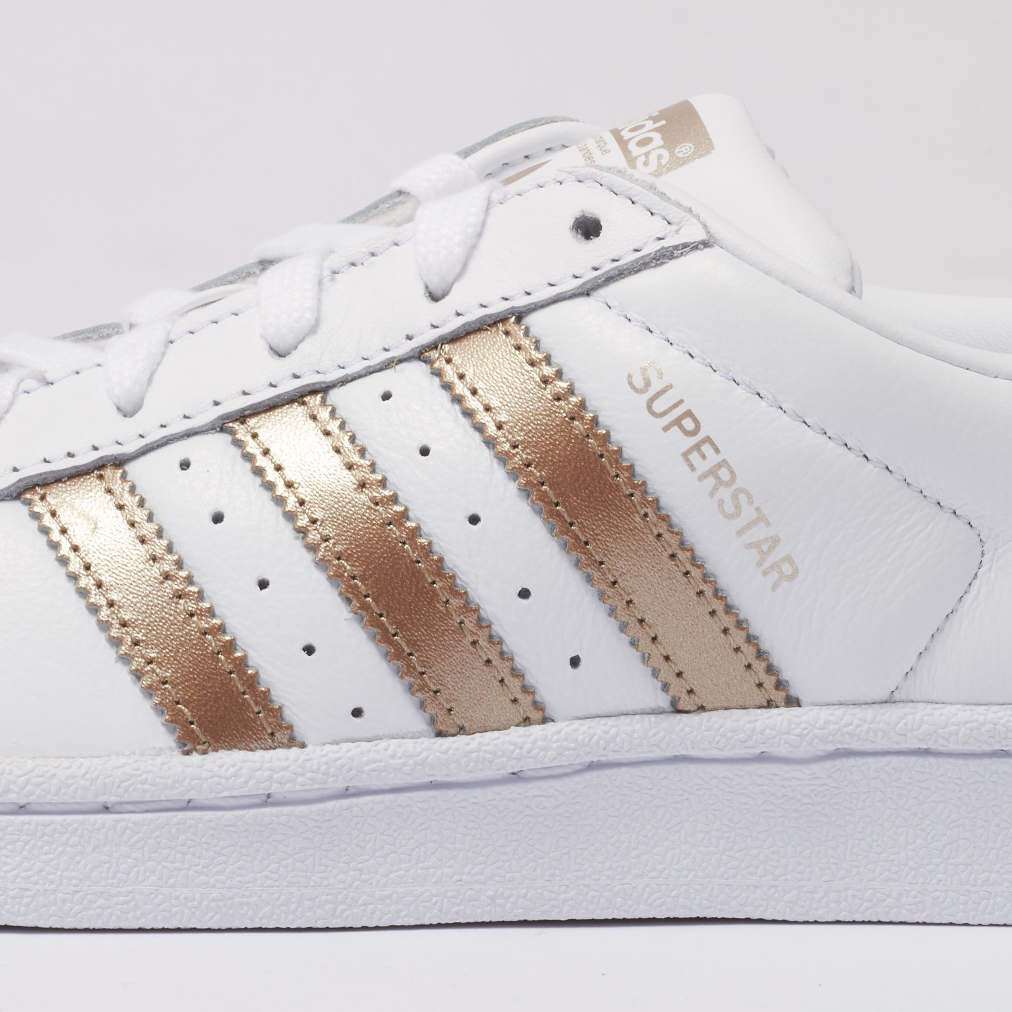 adidas originals metallic trainers