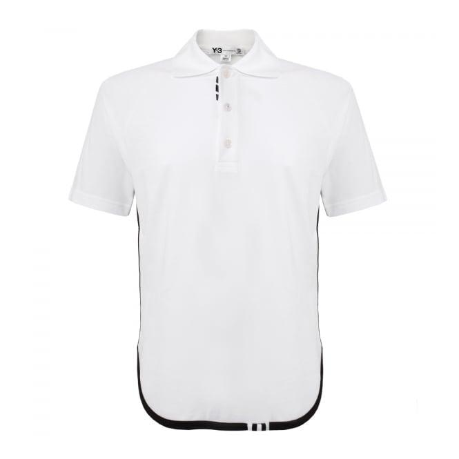 Adidas Y-3 Adidas Y-3 M Lux White Polo Shirt AP2479