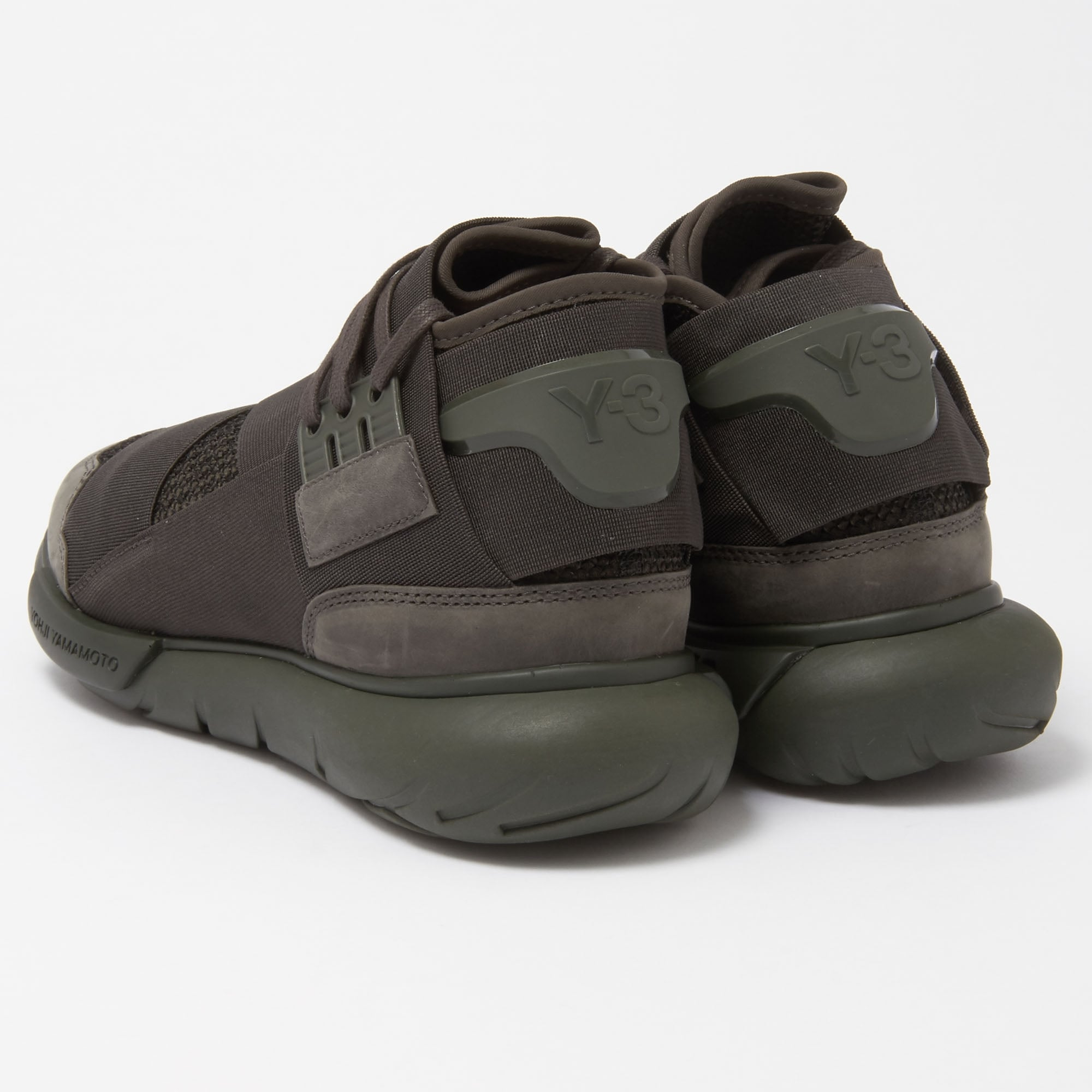Adidas Y3 Qasa High CG3194  Qasa High Black Olive Sneakers CG3194
