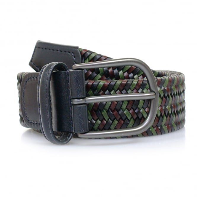 Anderson's Belts Anderson Belts Anderson's Woven Multi Braided Leather Belt AF2817
