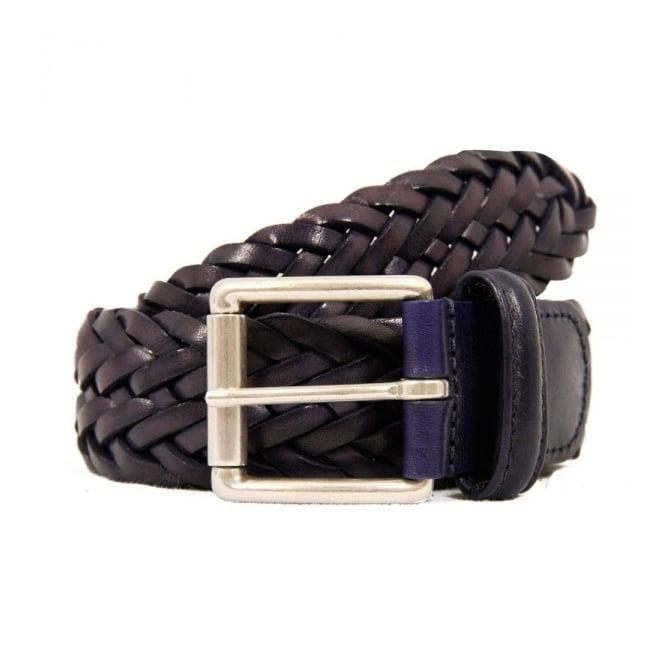 Anderson's Belts Anderson Belts Purple Woven Leather Belt AF2984
