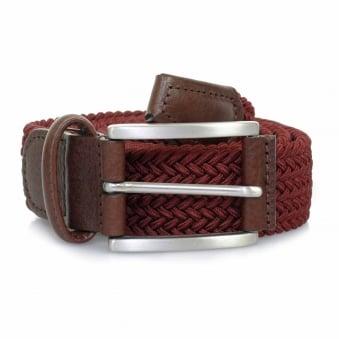 Anderson Belts Woven Burgundy Belt B0667 AF2949 D1