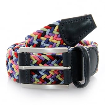 Anderson Belts Woven Rainbow Belt