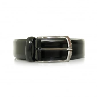 Anderson Black Shine Leather Belt A/1981 PL262 N1