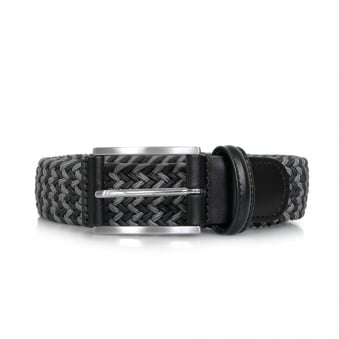 Anderson Braided Woven Navy Grey Belt AF3689 006