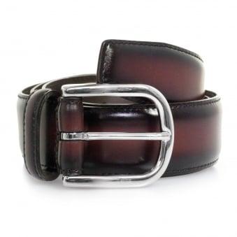 Anderson Polish Leather Burgundy Belt AF3580 PL123 D1