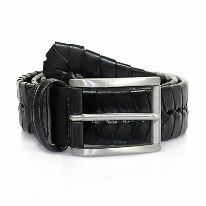 Anderson's Belts Anderson Stitched Black Leather Belt PI175 C