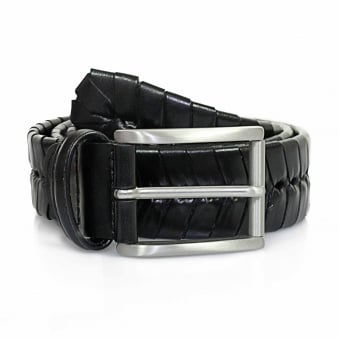 Anderson Stitched Black Leather Belt PI175 C