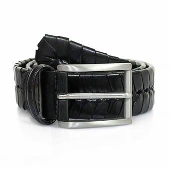 Anderson Stitched Black Leather Belt PI175 C