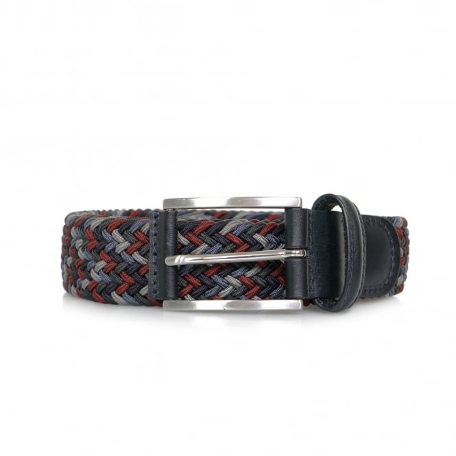 Anderson's Belts Anderson Woven Braided Dark Multi Belt AF3689 099