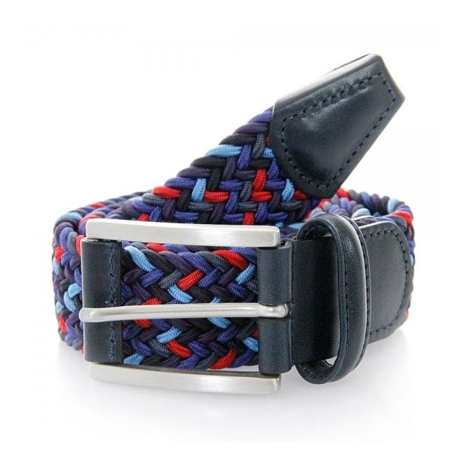 Anderson's Belts Anderson Woven Dark Multi Belt B0667 NE41 057
