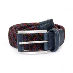 Anderson Woven Multi Purple Burgundy Braided Belt  AF2949