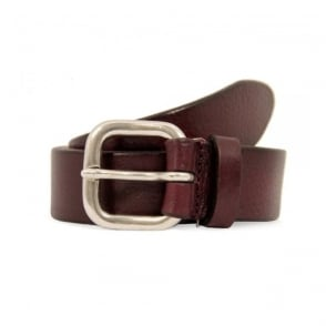 Anderson's Aubergine Grain Leather Belt A2782