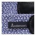 Anderson's Belts Anderson's Blue Leather Trimmed Elasticated Woven Belt AF2949