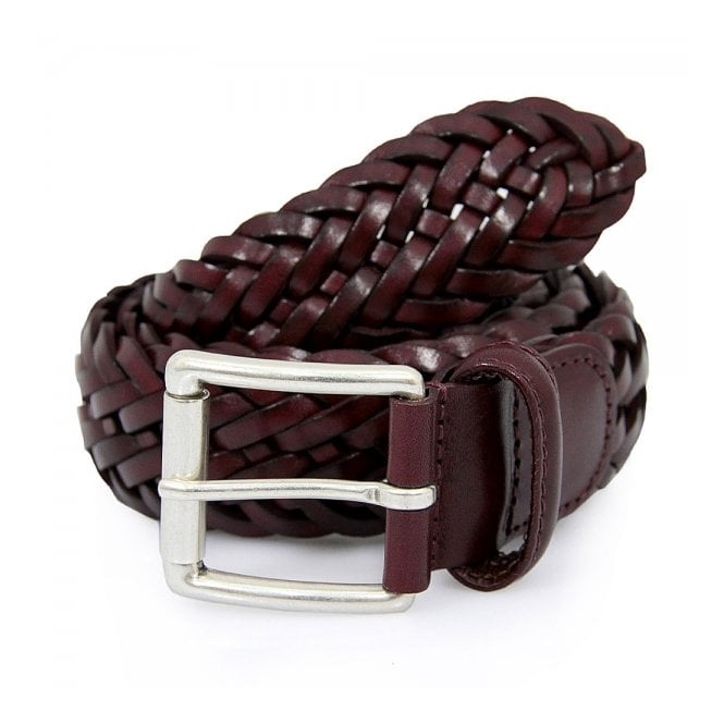 Anderson's Belts Andersons Braided Bordeaux Belt AF2984