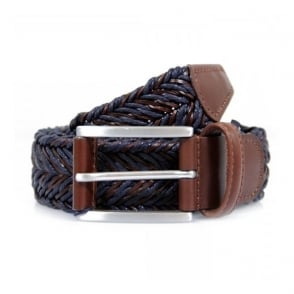 bf5f265572d7 Anderson s Braided Twine Deep Navy Brown Belt AF2949002
