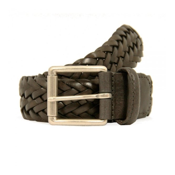 Anderson's Belts Anderson's Dark Grey Woven Leather Belt A1097