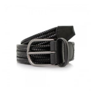Anderson's Woven Black Braided Leather Belt A/2915 PI51