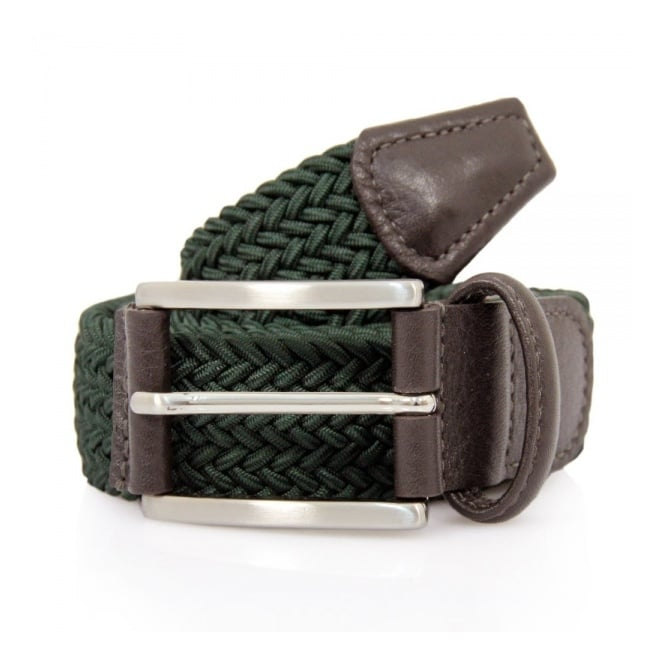 Anderson's Belts Anderson's Woven Green Belt B0067 AF2949 NE37 V1