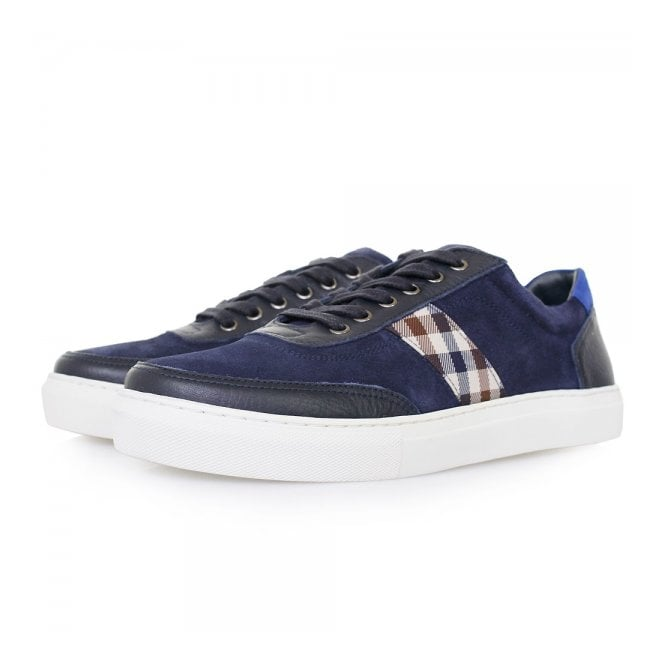 Aquascutum Bradley Navy Leather Shoes 021590105
