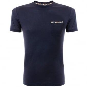 Aquascutum Brady Navy Pocket T-Shirt 011559006