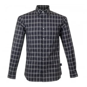 Aquascutum Harley LS Blue Check Shirt 021557018