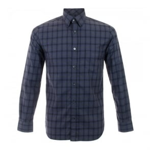 Aquascutum Navy Club Check Shirt 021457
