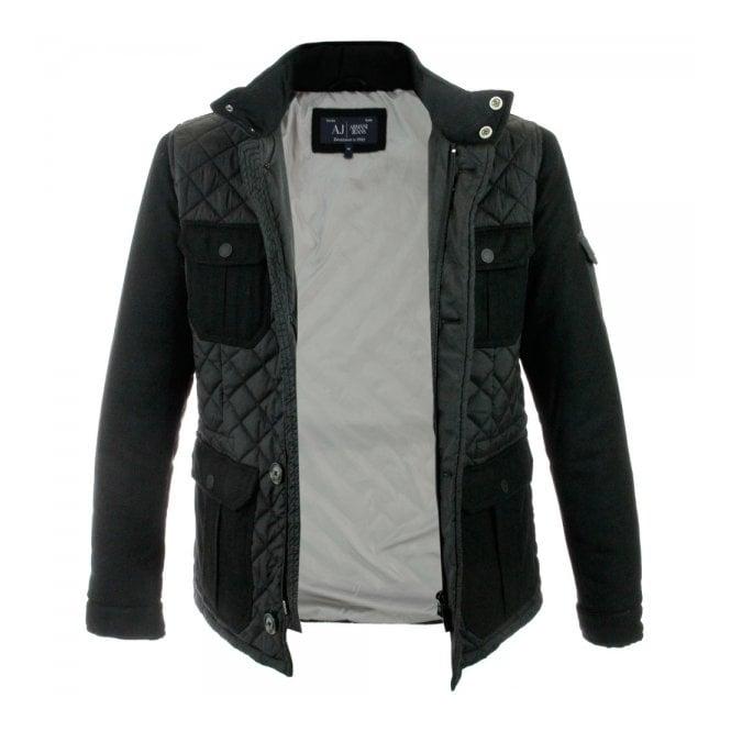 Armani Jeans Bust Black Quilted Jacket Z6K75 - Stuarts London : armani jeans quilted jacket - Adamdwight.com