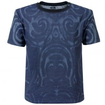Armani Jeans Blue Dyed T Shirt A6C39