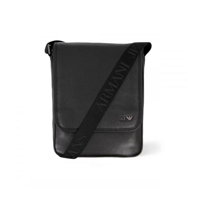 Armani Accessories Armani Jeans Borsello Black Leather Travel Bag 06295-C12