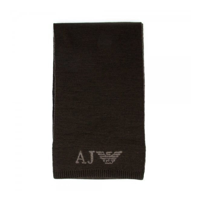 Armani Accessories Armani Jeans Brown Wool Blend Scarf Z6402