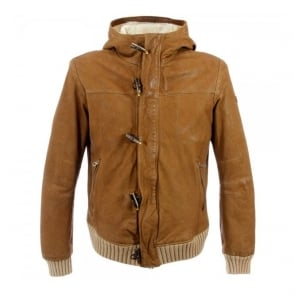 Armani Jeans Camel Leather Jacket Z6B14CV17I