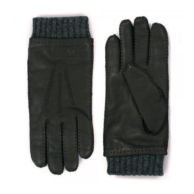 Armani Accessories Armani Jeans Nero Black Gloves Z6408-12