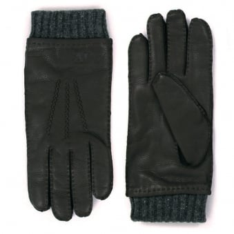 Armani Jeans Nero Black Gloves Z6408-12