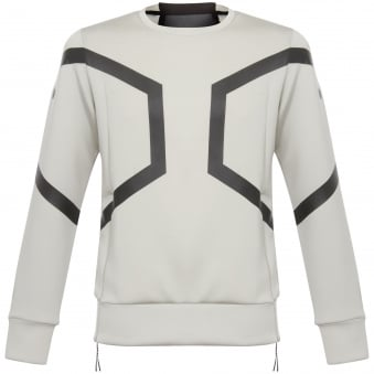 Ash Grey Hexagon Crew Top